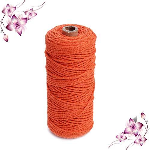 Macrame cuerda,Hilo Cordón Algodón Natural Grueso Cordón Macramé,para Colgador de Plantas, Envolver Regalo Navidad, Colgar Fotos,DIY Artesanía