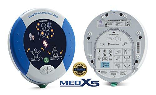 MedX5 PAD360P 8 Jahre Garantie, Laien Defibrillator AED, vollautomatischer Defibrillator mit HLW Unterstützung