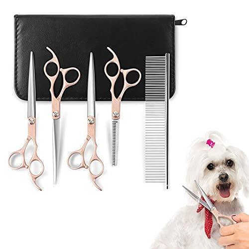 Juego de tijeras para el cuidado de perros, tijeras para peluquería, tijeras para pelaje para animales, tijeras profesionales para perros, tijeras afi
