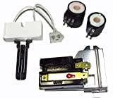 Edgewater Parts Gas Valve Coils and Flame Sensor Kit Compatible with Whirlpool, Kenmore, Maytag, Frigidaire 338906 279834 GAS DRYER HEAT SENSOR Model# (MDG, SDG, LDG, LGR, MDE, LG5)