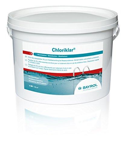 BAYROL Chloriklar 3 kg - 20g Chlor-Sprudeltabletten zur Stoßbehandlung & Schnelldesinfektion bei Wasserproblemen im Pool - für jede Wasserhärte - schnelllöslich & einfach dosierbar