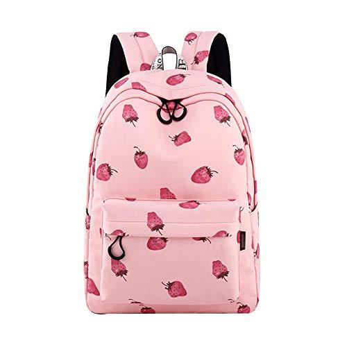 Nenka Zaino per la scuola, impermeabile, portatile, casual, per la scuola, per viaggi, scuola, per attività all'aperto, in tela, Colore: rosa., L