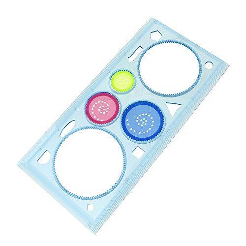 Spielzeug für Kinder, multifunktional, geometrisches Lineal, Kunststoff, Spirografie, zufällige Farbauswahl