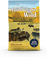 Taste of the Wild High Prairie Canine Grain-Free Recipe with Roasted Bison and Venison Adult Dry Dog Food, Made with High Protein from Real Meat and Guaranteed Nutrients 28lb