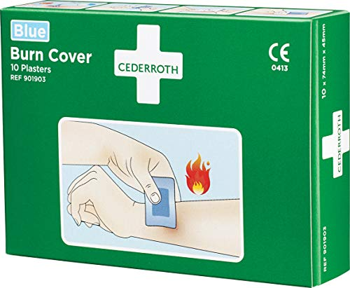 CEDERROTH Hydrogelpflaster Burn Cover für kleine Verbrennungen blau Inhalt: 10 Pflaster 74 x 45 mm