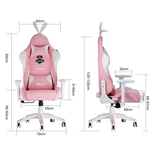 AutoFull Pink Gaming Stuhl für Mädchen Bild 5*