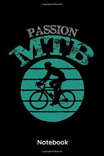 Passion MTB: 6x9 Notizbuch Kariert | 120 Seiten | MTB | Rennrad | Mountainbike | Radsport | Fahrrad | Tagebuch | Planer | Notizheft kariert | Notizblock