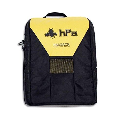 HPA PADPACK PRO Sac à dos étanche pour appareil photo, Noir/Jaune