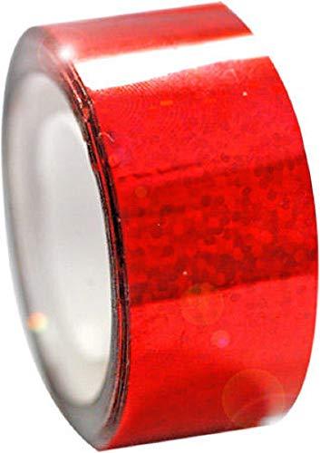 Pastorelli - Cinta adhesiva metálica para decoración de aros, Rojo