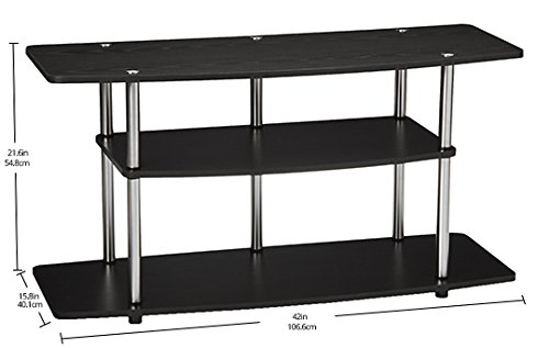 Convenience Concepts Designs2Go 3-Tier Wide TV Stand, Black