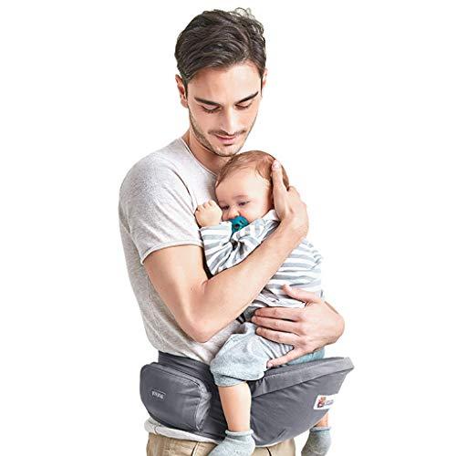 Asiento de Cadera Portabebés Ergonómica Portador de Bebé 3-36 Meses Niños Pequeños, Gris