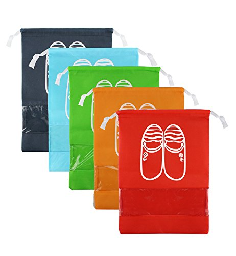 Zmart Travel Shoe Bags Non-Woven Storage for Men Women Pouch Packing Organizers