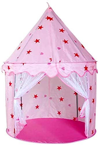SMLZV Children Tent,Children Game Room Indoor and Outdoor Easy Assemble,Pink Palace Castle Play Tent Kid Teepee,Best Birthday Gift ( Color : Princess Tent )