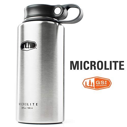 GSI Outdoor – MicroLite 1000 Twist 100 ml Vakuumisolierte Edelstahl-Trinkflasche, gebürstet