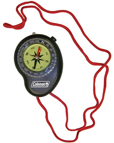 Coleman Company Compass with Led Light, Black/Red