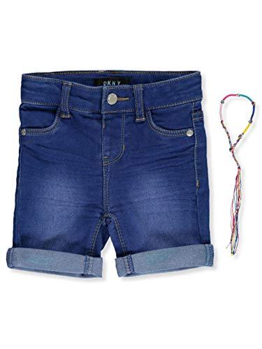 DKNY Girls' Shorts, Roll Cuff Jegging Bermuda Blueberry Wash, 6X