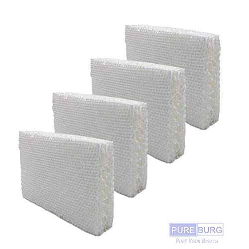 PUREBURG 4-Pack Replacement Humidifier Wick Filters Compatible with Vornado MD1-0002 Fits MD10002 MD10001 MD1-0001 EVAP1 EVAP3 Model 30/40 / 50 HU1-0021 Holmes HM250 HM405 HM406 HM725 humidifiers