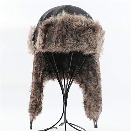 JLCSM Sombrero Caliente, Solapas de Orejas de Invierno Sombrero piloto, Sombrero de algodón térmico para Mujer, para Adultos Unisex Outdoor Sombrero