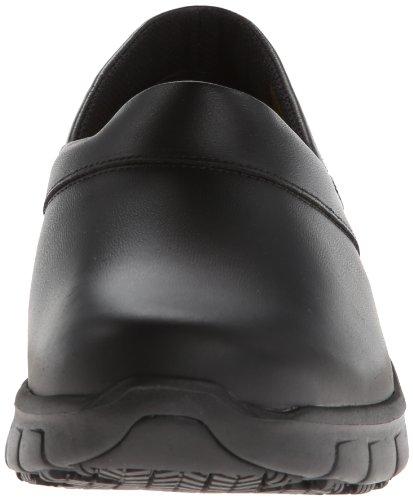 Skechers for Work Women's Relaxed Fit Slip Resistant Work Shoe, Black, 8 M US