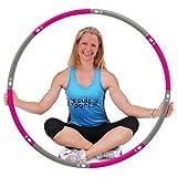 ResultSport Hula Hoop Reifen Erwachsene 1,2kg Gewicht 100cm breit, 8 Teiliger Abnehmbarer, Weighted Fitnessreifen, Fitnessübungen Training
