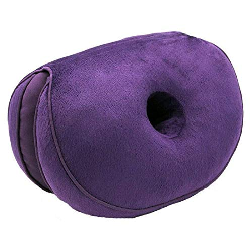 WAQIA Dual Comfort Cushion Lift Hips Up Seat Cushion Beautiful Buttocks Latex Cushion Orthopedic Posture Correction Cushion for Pressure Relief, Fits in Car Seat, Home, Office