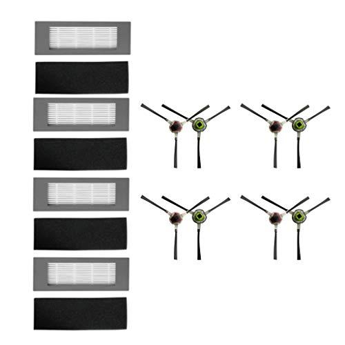 Sayla Accessoires De Robot De Balayage 4 Group Filter,4 Pair Side Brush,Compatible Avec Ecovacs Ozmo 610 Aspirateur