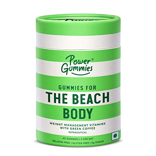 POWER GUMMIES-THE BEACH BODY WITH GREEN COFFEE, L-CARNITINE & VITAMIN C-WEIGHT MANAGEMENT GUMMIES FOR MEN & WOMEN-60 GUMMIES