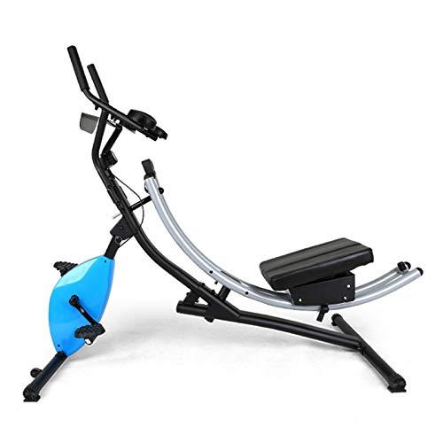 MGIZLJJ Bicicletas de ejercicios, 2 en 1 bicicleta de ejercicios, entrenador abdominal en posición vertical bicicleta estacionaria para adultos para adultos en bicicleta de precuerreos con tablet stan