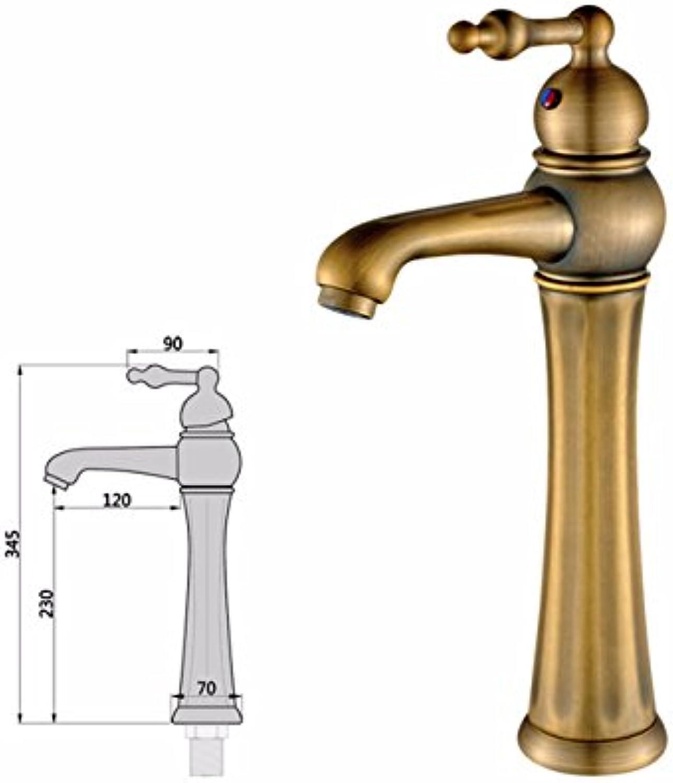 LHbox Continental antiken Wasserhahn, kupferfarbenen Waschbecken, Waschbecken, Waschbecken Wasserhahn, heies und Kaltes Wasser Waschbecken Mixer