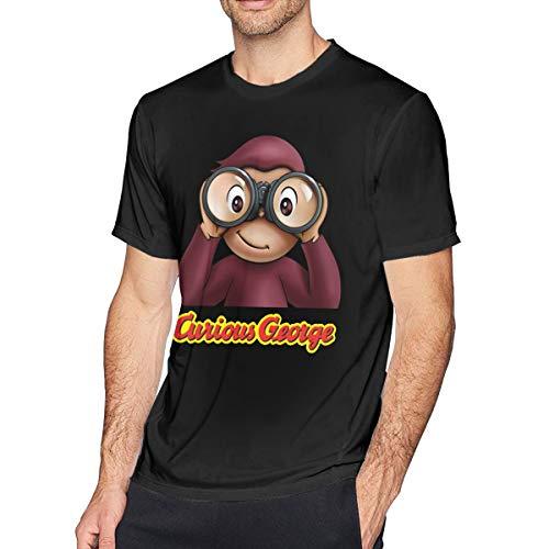 Fomente Curious George Herren Klassisch T-Shirt Black XXL