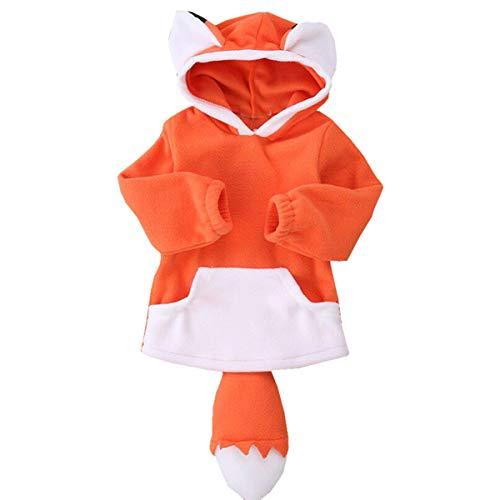 puseky Unisexe bébés garçons Filles Mignon Dessin animé Animal Capuche à Capuche Chemise Costume Costume