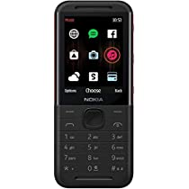 Nokia 5310 Dual SIM Feature Phone with MP3 Player, Wireless FM Radio and Rear Camera (Black/Red)