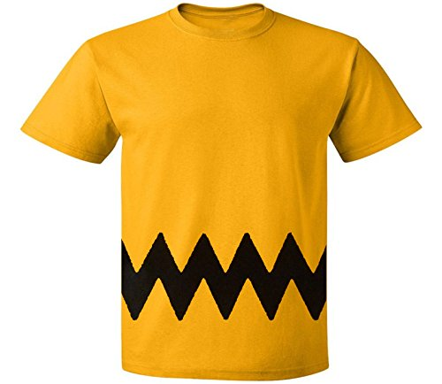Custom Kingdom Mens Peanuts Charlie Brown T-Shirt (Large)
