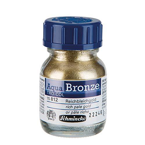 Schmincke Aqua Bronze Powder, 20ml Jar, Rich Pale Gold, 1 Each (15812032)