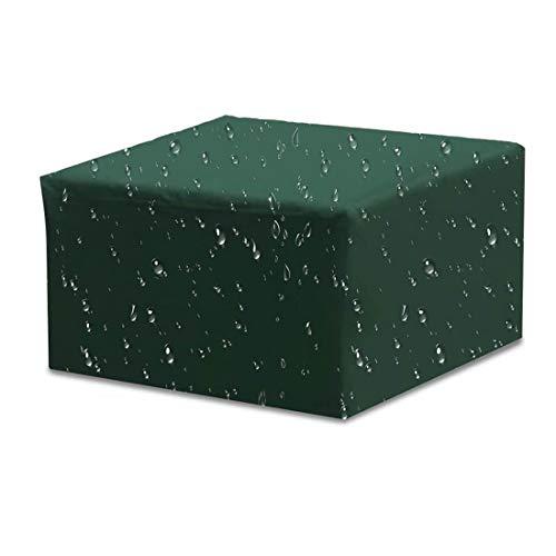 ZJM Cubiertas De Muebles De Jardín, Cubierta De Mesa De Patio, Cubiertas De Muebles Rectangulares/Cuadradas para La Silla De Mesa Sofá, Impermeable, A Prueba De Viento, Anti-UV,210 * 110 * 70cm