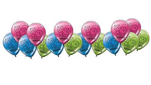ALMACENESADAN 0679, Pack 16 Globos Pocoyo y Nina; para Fiestas y cumpleaños. Ideal para Decorar Tus Fiestas.