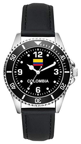 Geschenk für Kolumbien Colombia Uhr L-6344