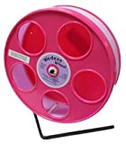 Pink Hamster Wheel, the Wodent Wheel 'Jr.' 8' with Lavender Track