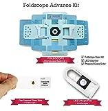 Foldscope Advance Kit - Foldscope Basic Kit + LED Magnifier + One Prepared Glass Slide by Simple Days