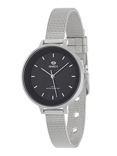 Reloj Marea Mujer B41198/8 Analógico Correa armis acero tipo malla milanesa Esfera negra