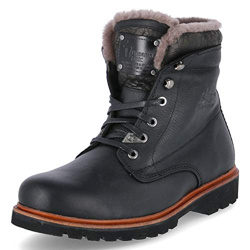 Panama Jack Herren Winterstiefel Panama 03 Aviator Igloo,Männer Winter-Boots,Fellboots,Lammfellstiefel,Fellstiefel,gefüttert,warm,Schwarz,EU 44