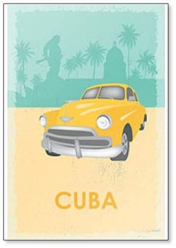 Cuba Retro - Imán para nevera