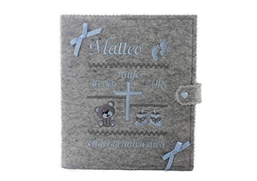 Personalisiertes Taufbuch, Taufalbum DIN A5, Geschenk zur Taufe, Taufgeschenk, Erinnerungsalbum, mit 36 Innenseiten zum Ausfüllen und Platz für Fotos