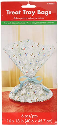 Frosty Friends Christmas Multicolored Cookie Tray Bags, 6 Ct.   Party Supply