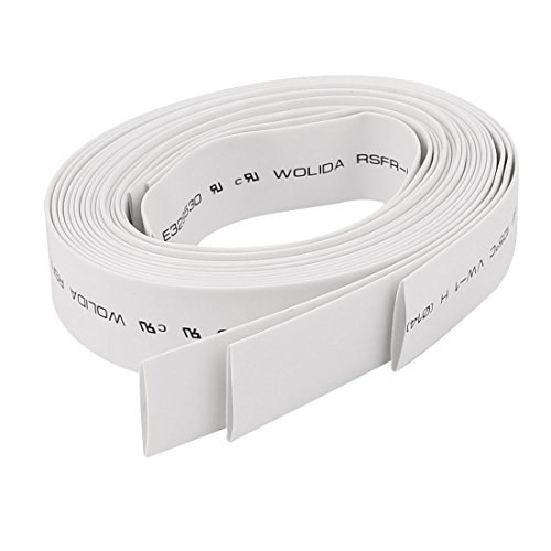 Aexit 14mm Wire Shaft Collars Wrap Heat Shrinkable Tube Shrink Tubing 3.2Ft Heat Shrinkable Shaft Collars White 3pcs