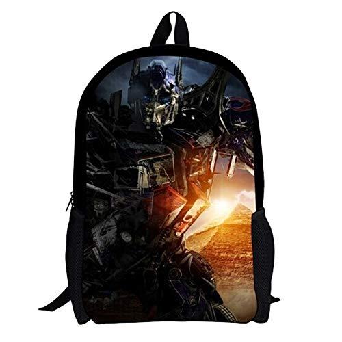 Transformers Mochila para niños Nueva Mochila de Pareja preferida Hot New Trend Backpack (Color : A03, Size : 32 X 16 X 42cm)