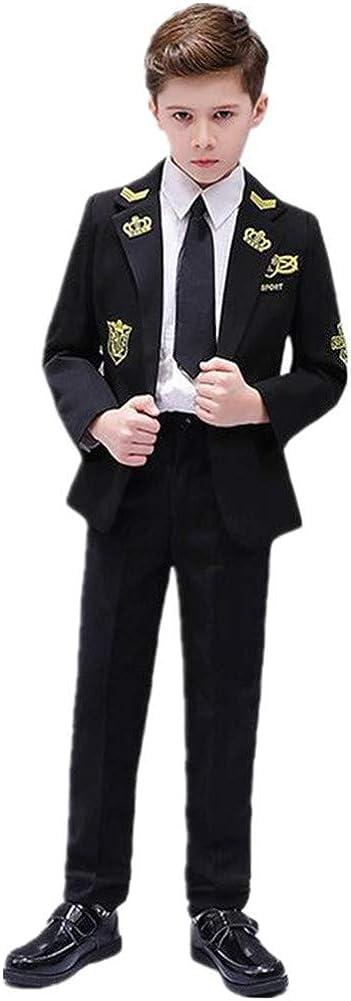 2 Pieces British Style Boy Suits Pilot Custome Tuxedo Slim Fit(Jacket+Pants) Party Performance