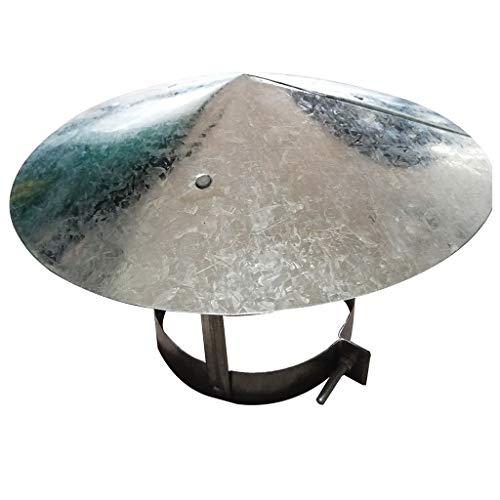 LXLTL Sombrero Cubierta De Chimenea para Estufa Base Redonda Sombrero De Chimenea Sombrero Extractor Hojalata galvanizada,120mm