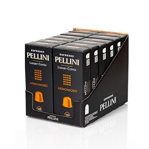 Pellini Caffè, Espresso Pellini Luxury Coffee Armonioso, Compatibili Nespresso, 12 Astucci da 10 Capsule, 120 Capsule