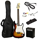 RockJam Full Size Electric Guitar Superkit with Amp, Strings, Strap, Case and Cable